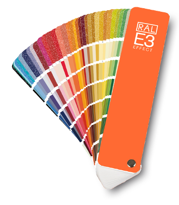 Colour Catalog : RAL Effect E3 colour fans and swatches