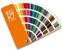 RAL K7 colour fan